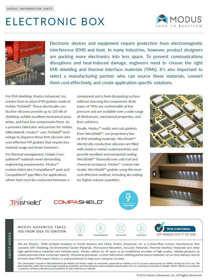 Information Sheet: Electronic Box