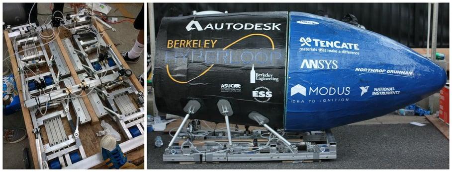 Hyperloop pod prototype from UC Berkeley