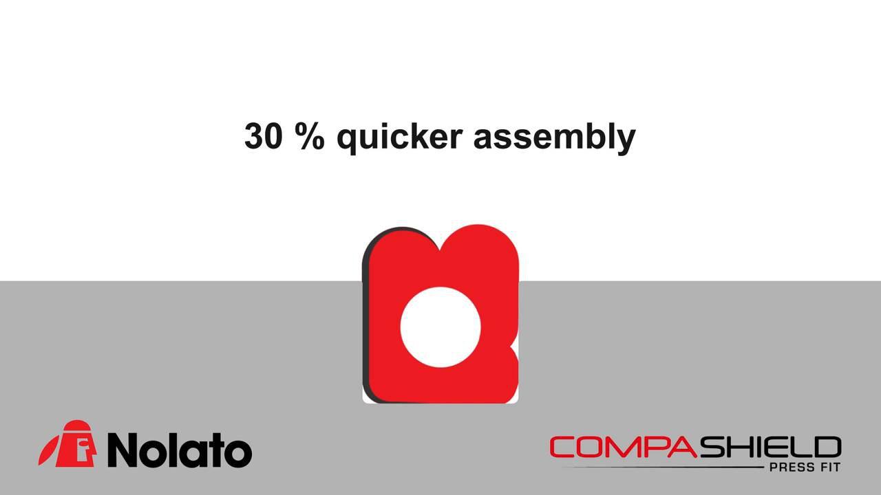 Nolato Compashield Press Fit EMI Shielding Gasket