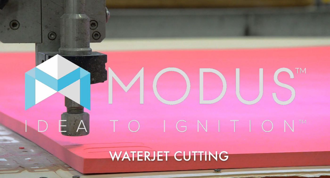 Waterjet Cutting With Our Flow Mark IV 8-Head Waterjet